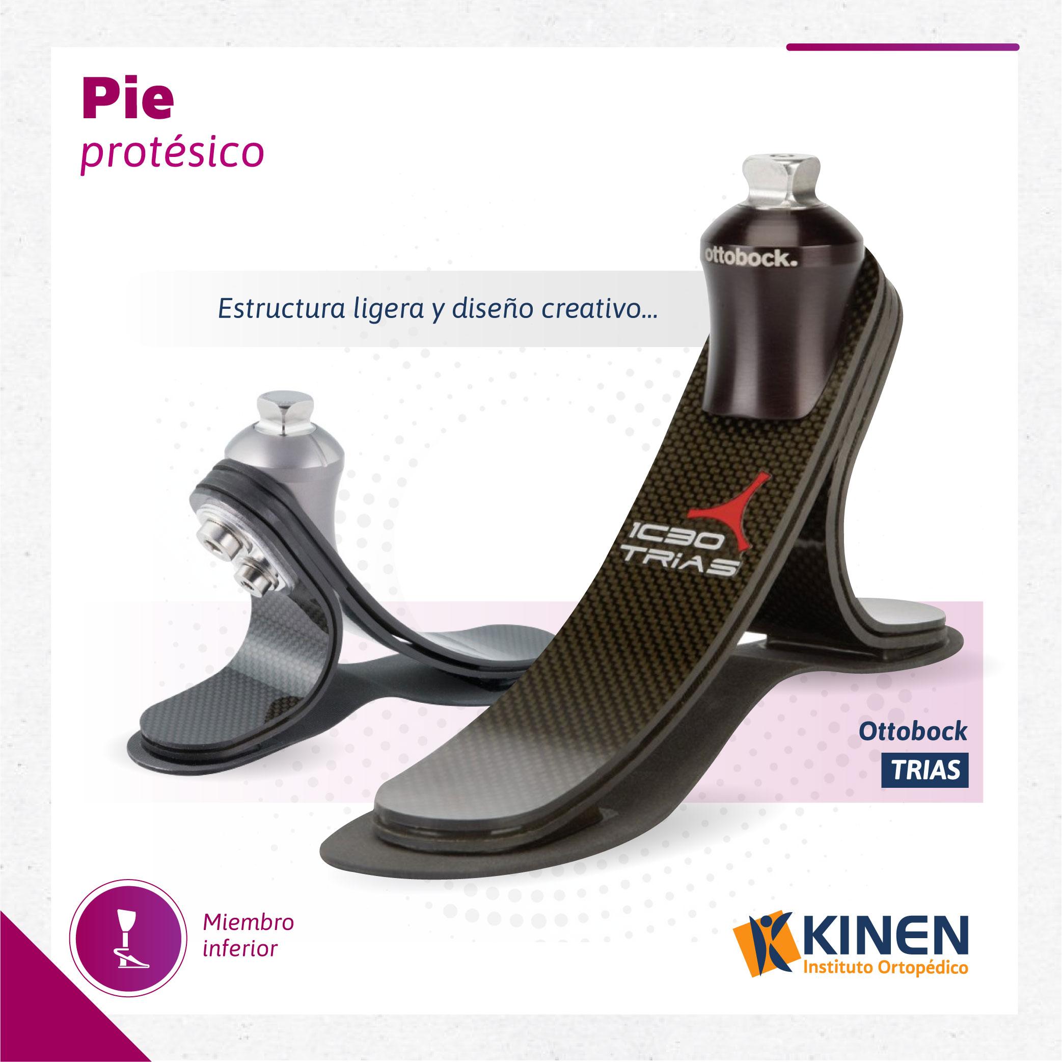 Pie protésico Trias